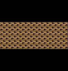 black and golden circular optical pattern gold vector image