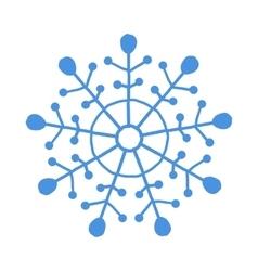 Blue snowflake vector image