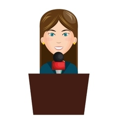 Breaking news reporter character vector