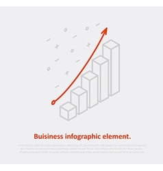 Business infographic element isometric eps 10 vector