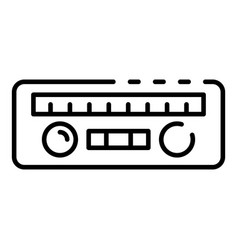 Car radio icon outline style vector