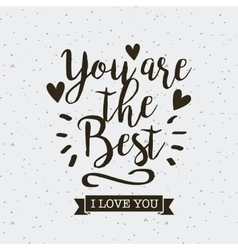 card of i love you design vector image