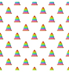 Childrens pyramid pattern cartoon style vector