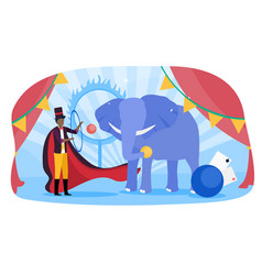 circus carnival performance show poster vector image