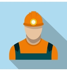 Coal miner flat icon vector