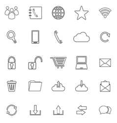 Communication line icons on white background vector