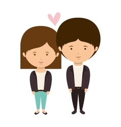Couple dressed eighties style in love vector