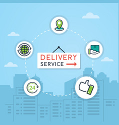 delivery and shipping vector image
