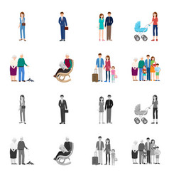 design of character and avatar sign set of vector image