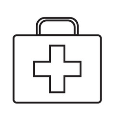 doctor s case simple medical icon in trendy line vector image