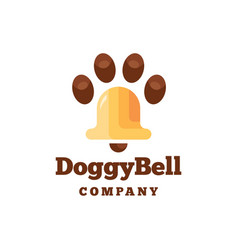 doggy bell icon logo design vector image