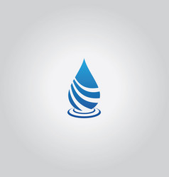 Drop water logo vector