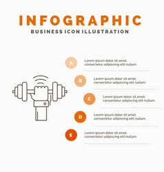 Dumbbell gain lifting power sport infographics vector