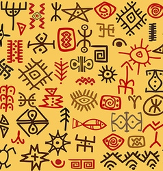 Ethnic symbols background vector