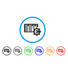 euro barcode setup rounded icon vector image