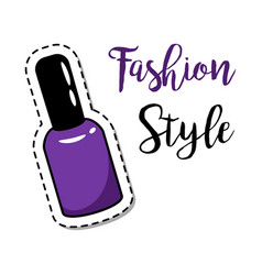 fashion patch element nail polish vector image