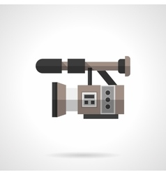 Filming equipment flat color design icon vector image