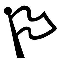Flag waving icon vector