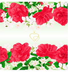 floral border seamless horizontal background vector image