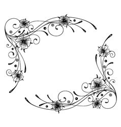 Floral element ornament vector