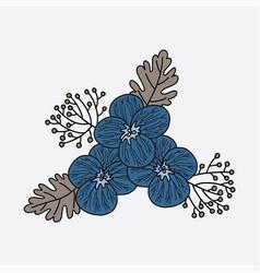 Flower placement print vector