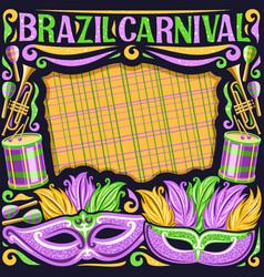 Frame for brazil carnival vector