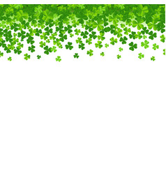 frame with clovers vector image