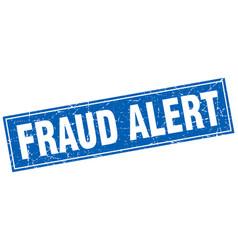 Fraud alert square stamp vector