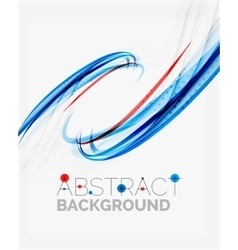Fresh blue and red wave line vector