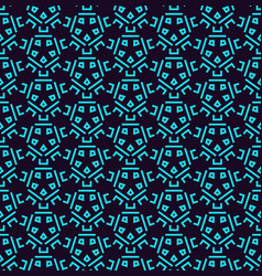 geometric simple luxury blue minimalistic pattern vector image