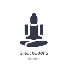 Great buddha icon isolated great buddha icon from vector