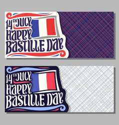 greeting cards for bastille day vector image