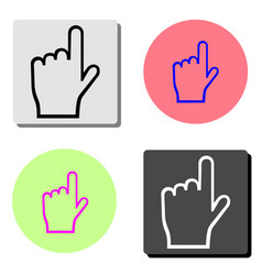 hand pointer flat icon vector image