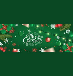 happy new year banner christmas wishes template vector image