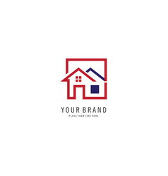 home realty logo vector image