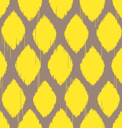 ikat lemon yellow pattern vector image