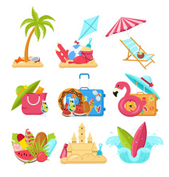 Images that capture the spirit of summer vector