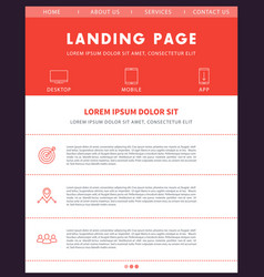 landing page template website design vector image