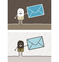 Mail colored cartoon vector