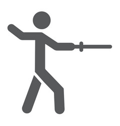man fencing glyph icon sport and fighting fencer vector image