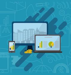 media marketing business vector image