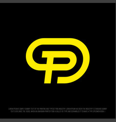 modern professional logo monogram p in business vector image