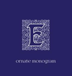 Monogram e vector
