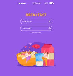 Morning people mobile background vector
