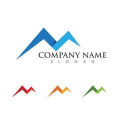 Mountain icon logo template vector