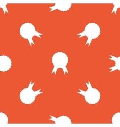 Orange certificate seal pattern vector