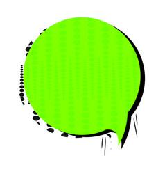 Pop art text box vector