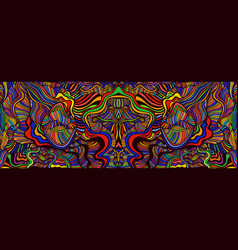 psychedelic mirror abstract maze wavy ornaments vector image