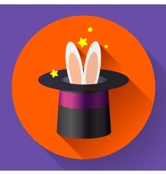 Rabbit in a magic hat vector