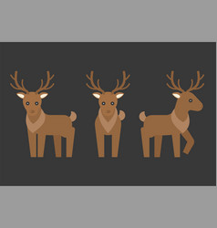 Reindeer icon vector